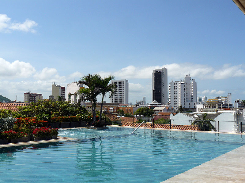 Bastion Hotel Rooftop Pool Cartagena Colombia