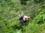 Ziplining through the  Costa Rican jungle