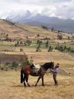 Riding near Otavalo